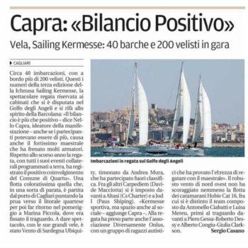 La Nuova Sardegna - Ichnusa Sailing Kermesse 2016