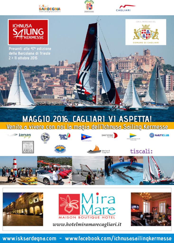 Flyer Ichnusa Sailing Kermesse Barcolana 2015